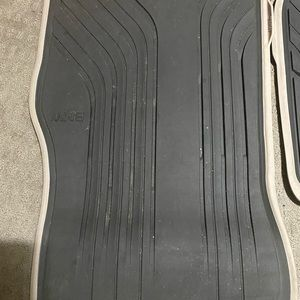 BMW rubber floor mats 29 in long and 25 in long